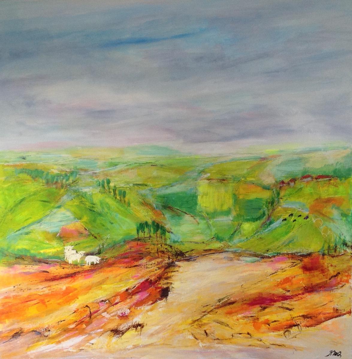Det uendelige landskab 80 x80 cm