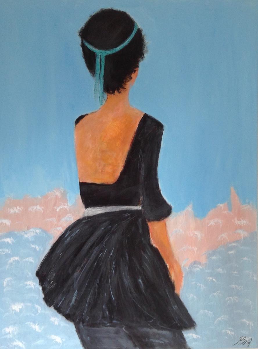 """"""" Balletpige"""" 80 x 60 cm  Privat eje"""