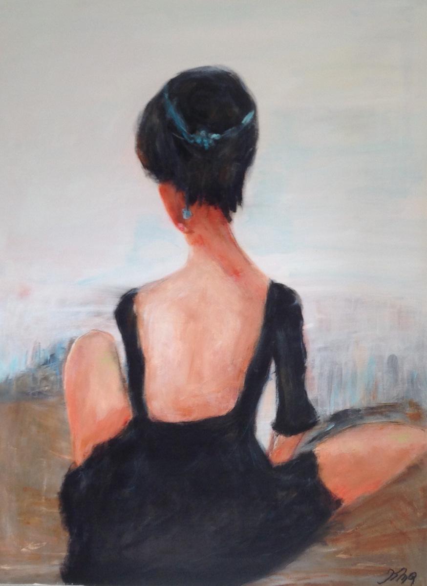 """ Ballet pige "" 80 x 60 cm privat eje"