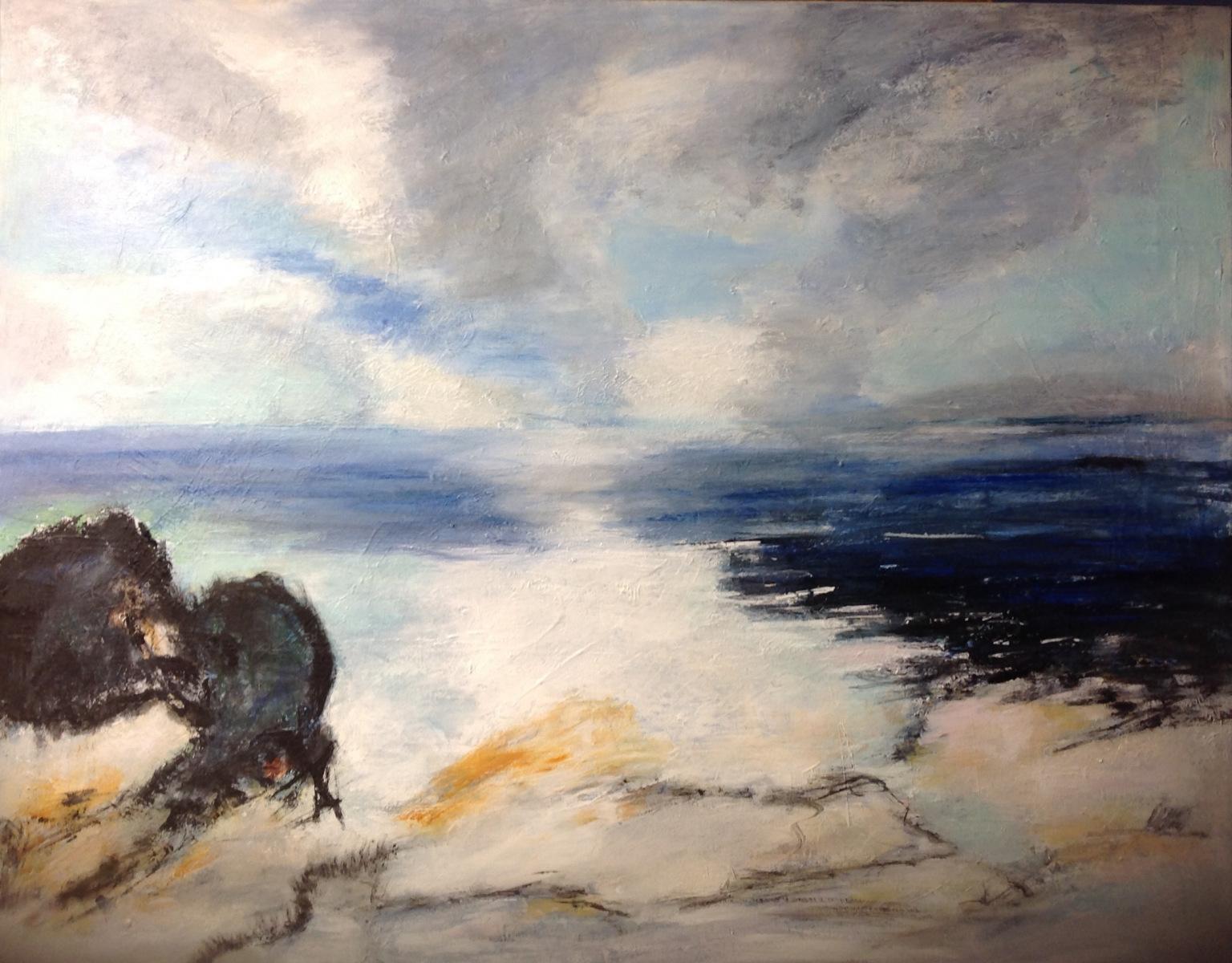 """"""" Natur skildring """" 70 x 90 cm"""