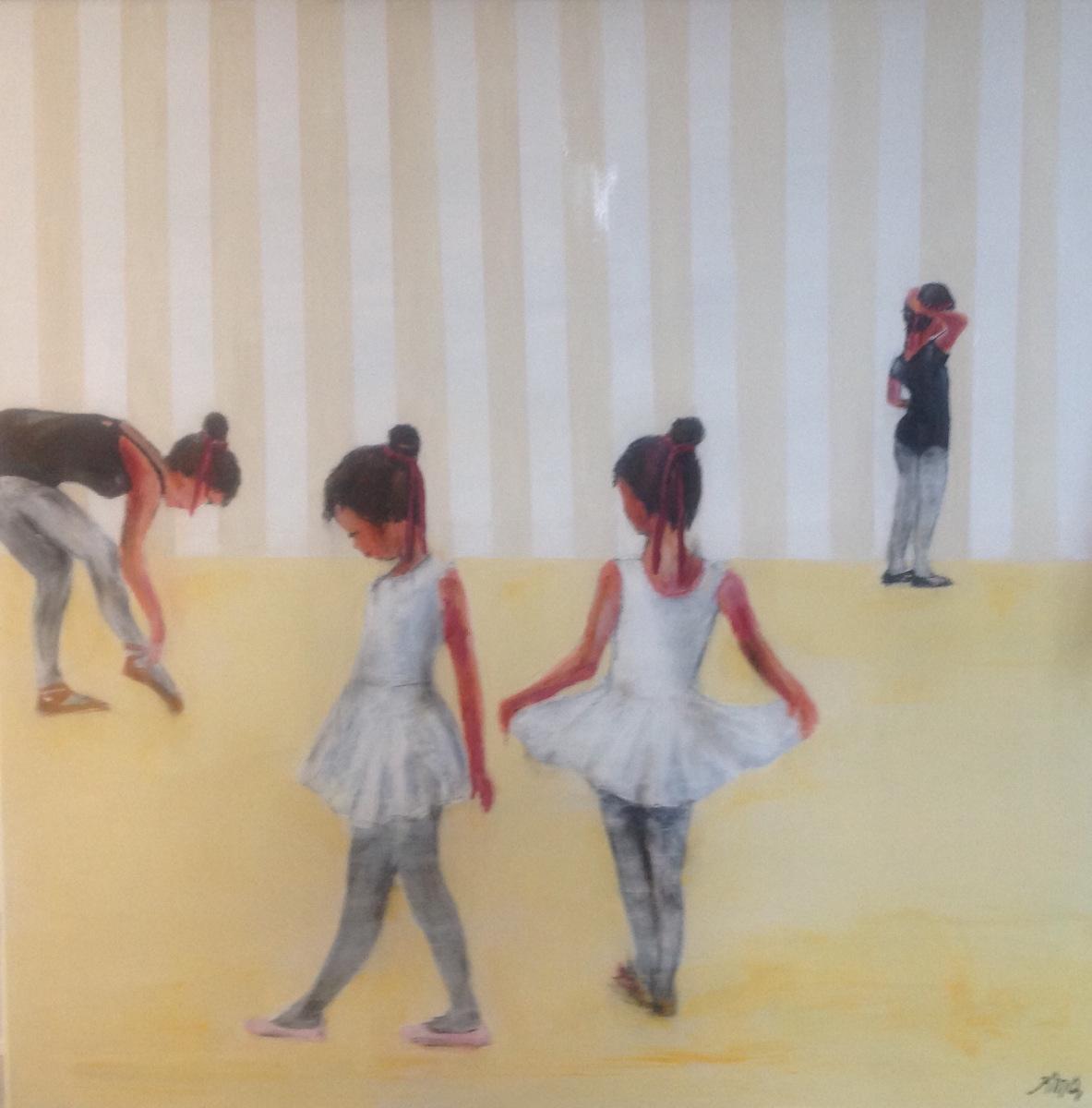 """Balletpiger "" 100 x100 cm solgt fra Marina"