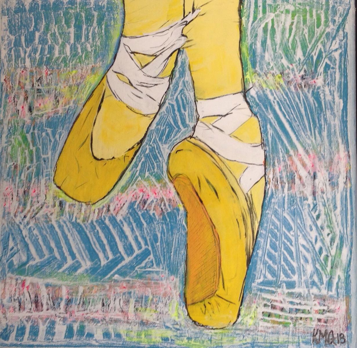 Ballet sko  30 x 30 cm ( sponser gave )