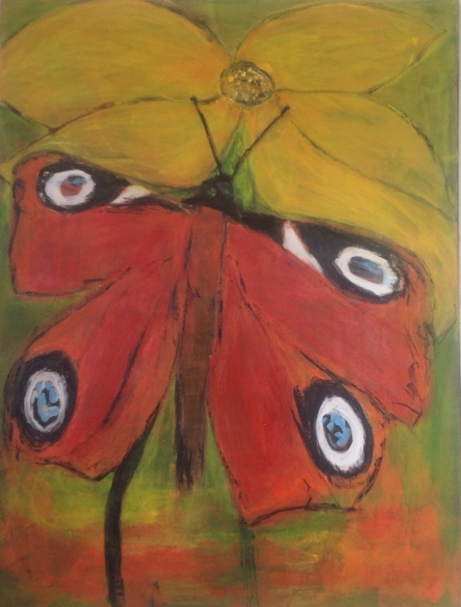 Sommerfuglen 80 x 60 cm
