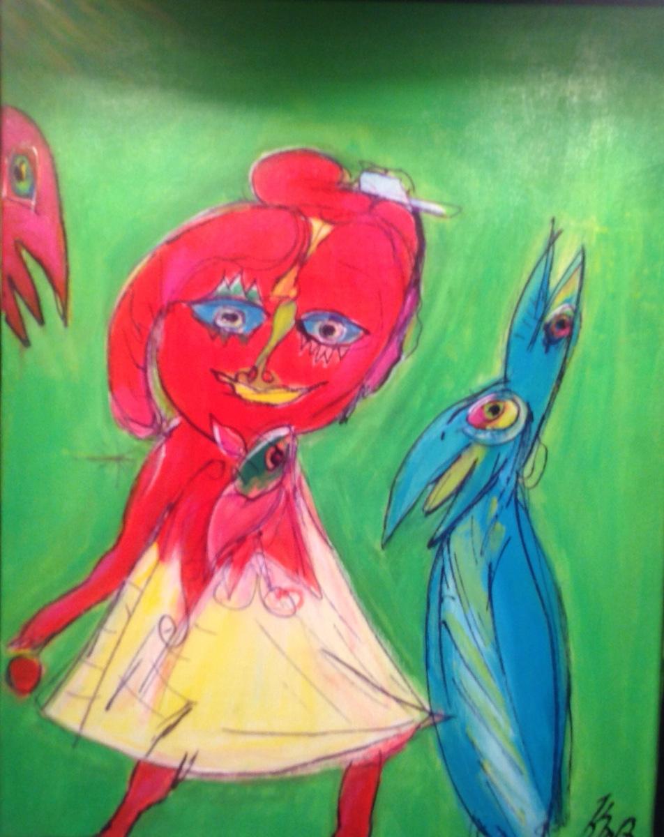 """"""" Pigen og papegøjen """" solgt  HM"""