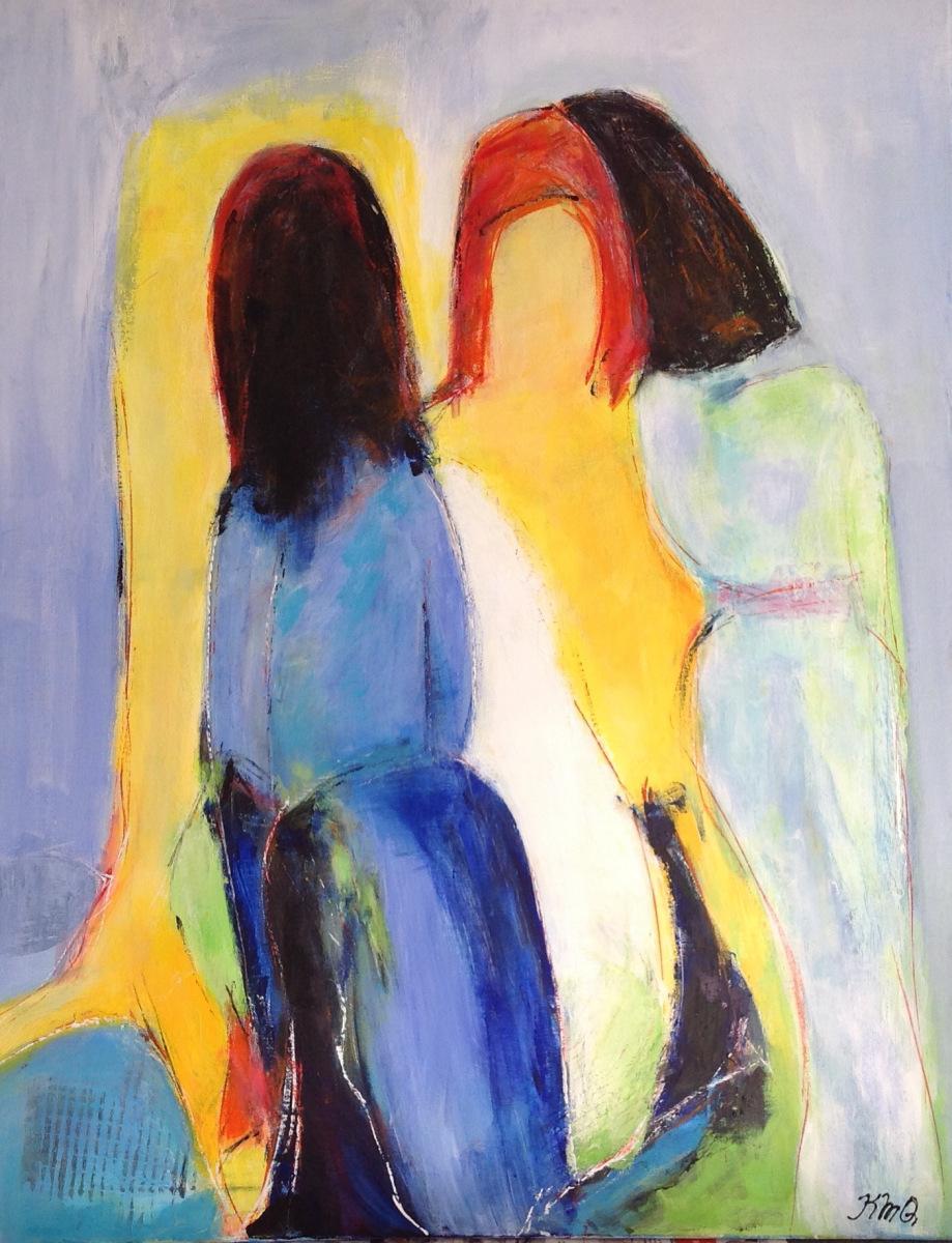 Kvinder solgt fra Marina  80 x 80 cm