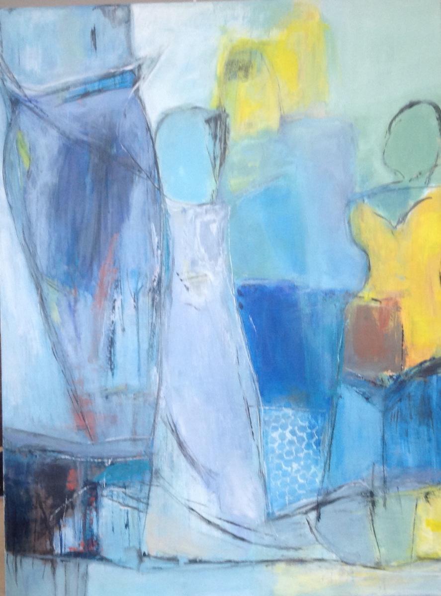 Blå symfoni 80 x 60 cm