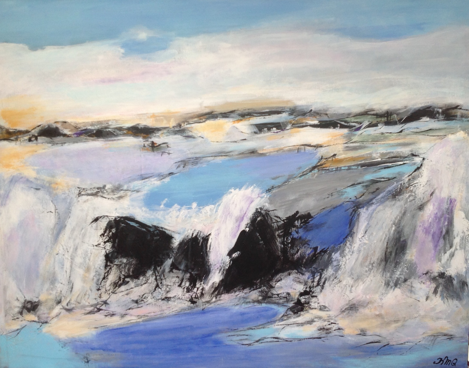 """Islands landskab "" 90 x70 cm"