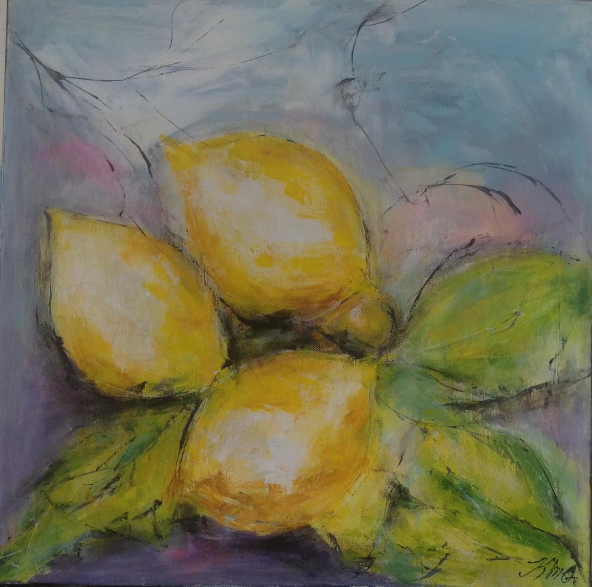 Citroner 50 x 50 cm  har været udstillet på Gl Estrup