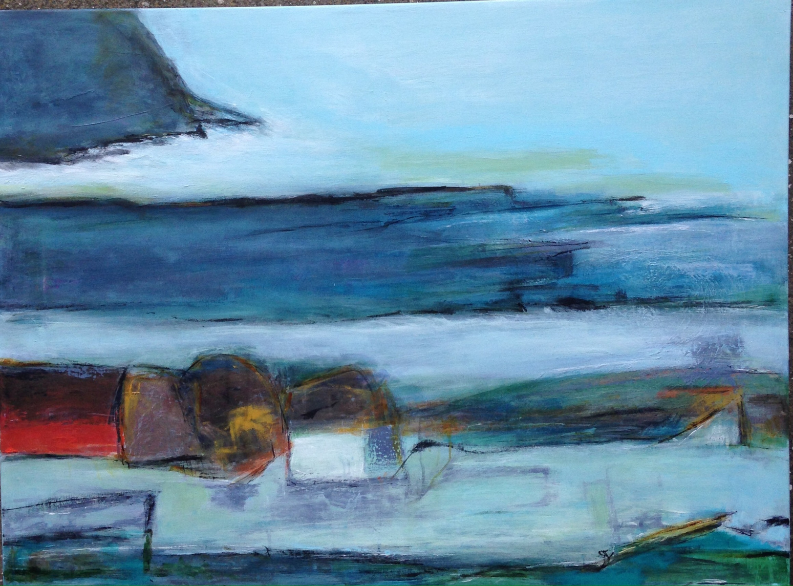 """""""By ved havet """"90 x 70 cm"""