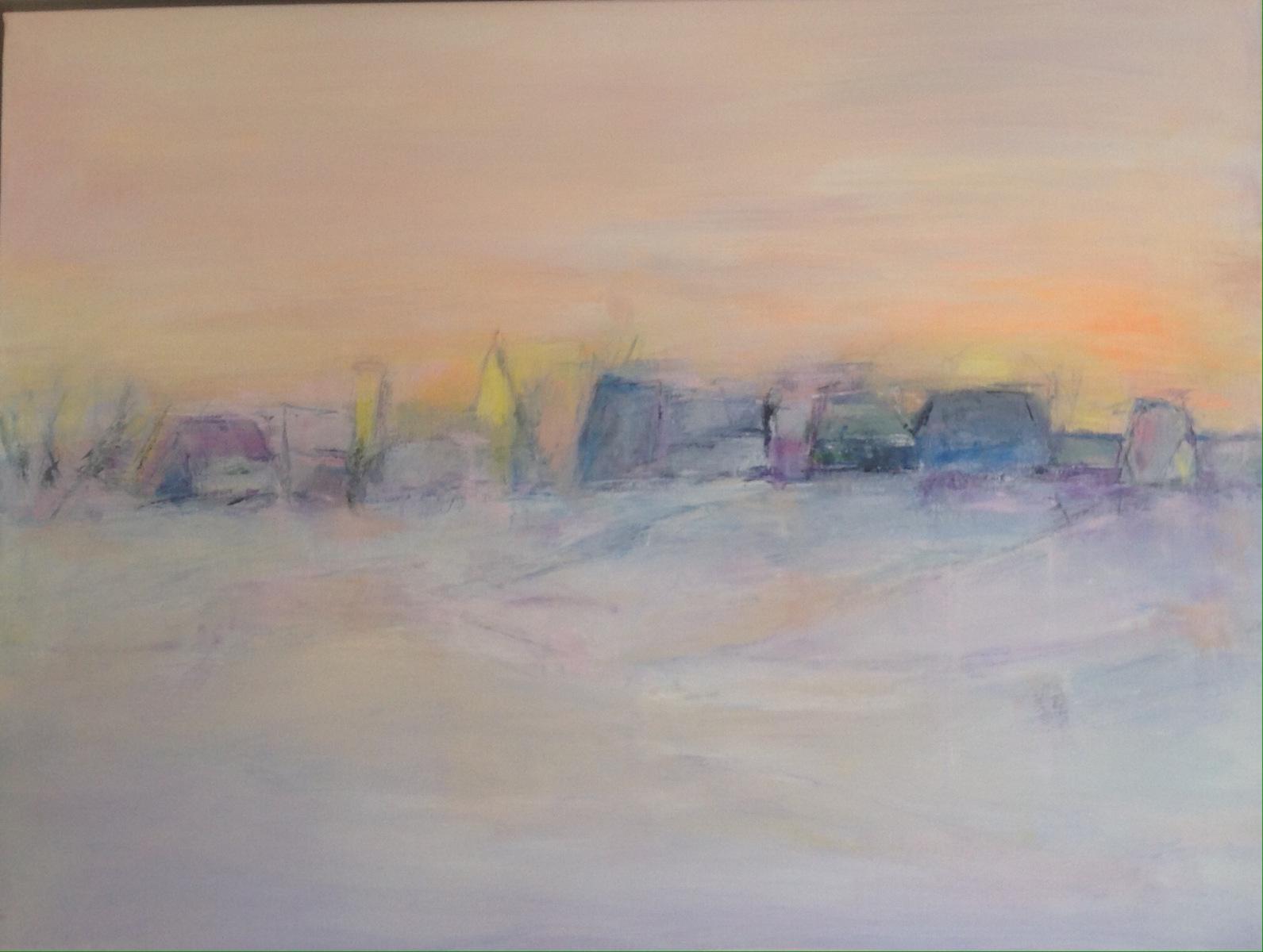 """"""" Vinterlandskabet """" 80 x 60 cm"""