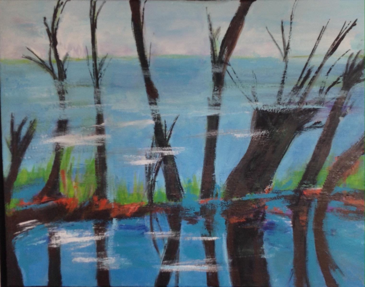 """"""" Skov søen """" 30 x 40 cm"""