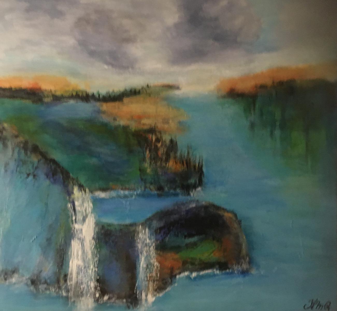 Landskabet 60  x 60 cm