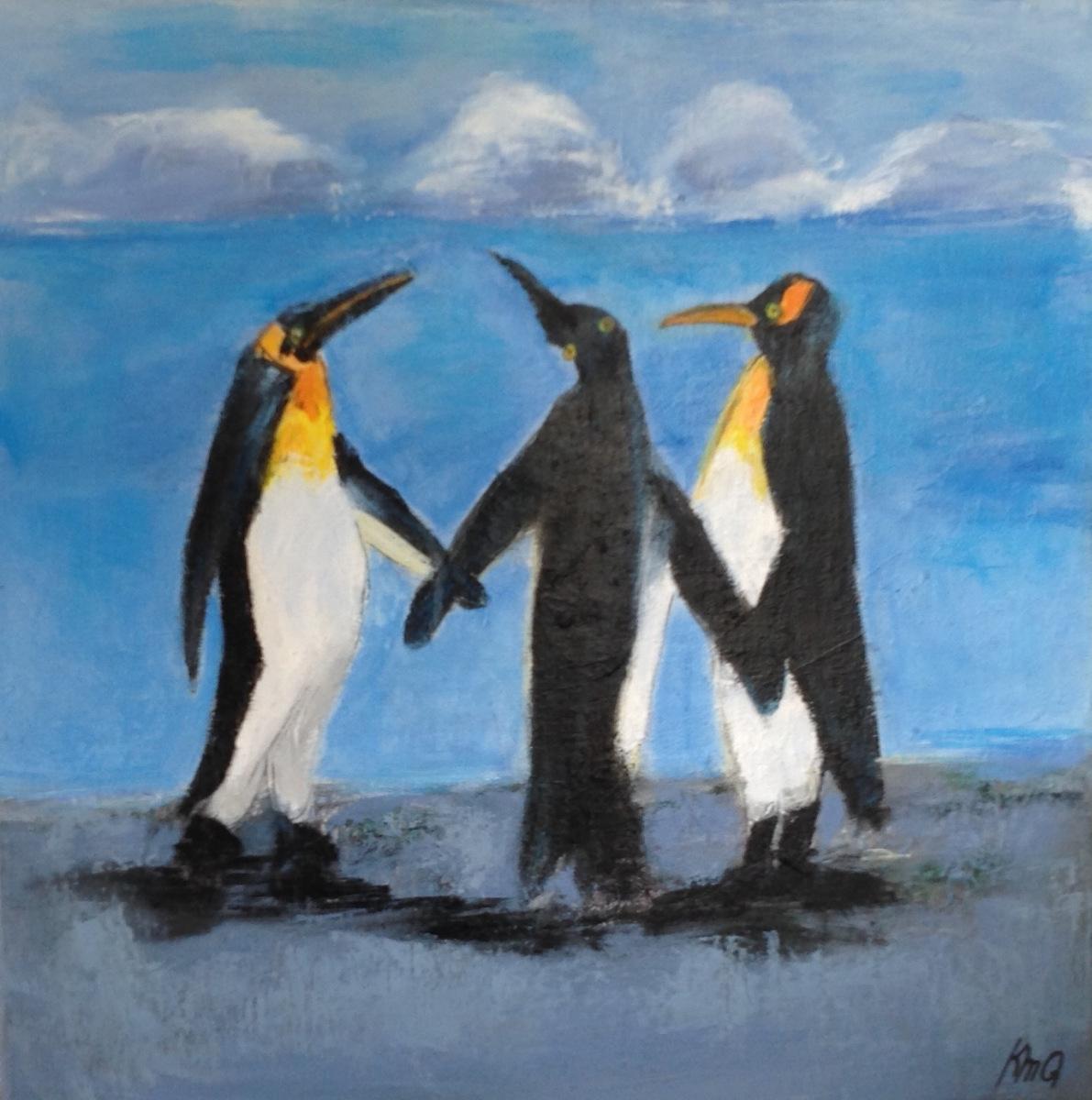 Pingviner måler 40 x 50 cm