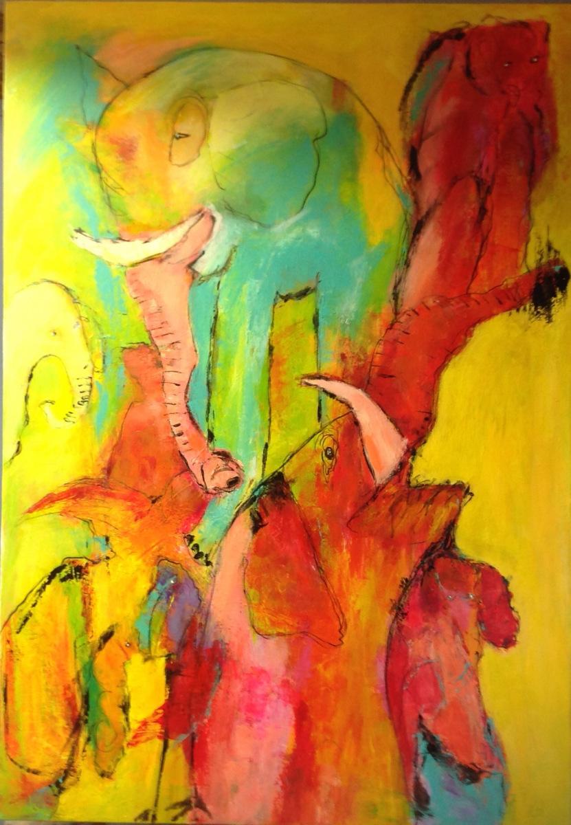""""""" Elefanterne """" 70 x 100  Privat eje"""