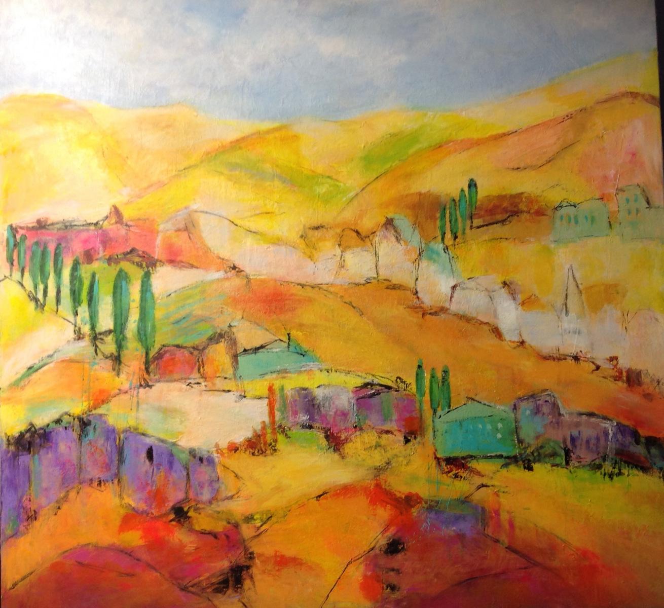 """""""Toscana drømme """" 80 x 80 cm"""
