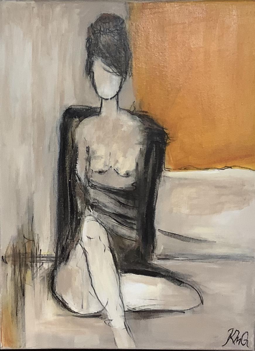 Kvinde 1  - 30 x 40 cm