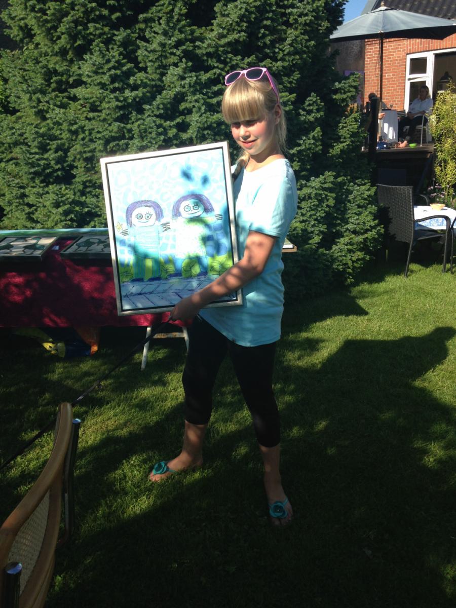 Frederikke blev den heldige vinder af billedetTil åben galleri