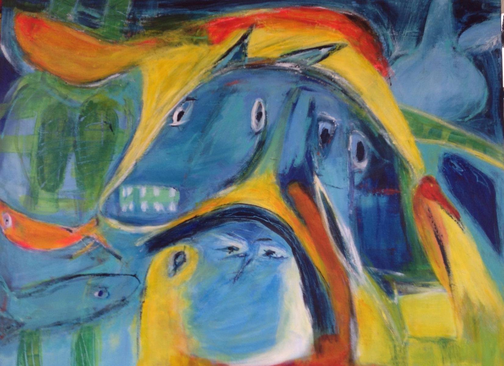 Den vrede hest er malet over
