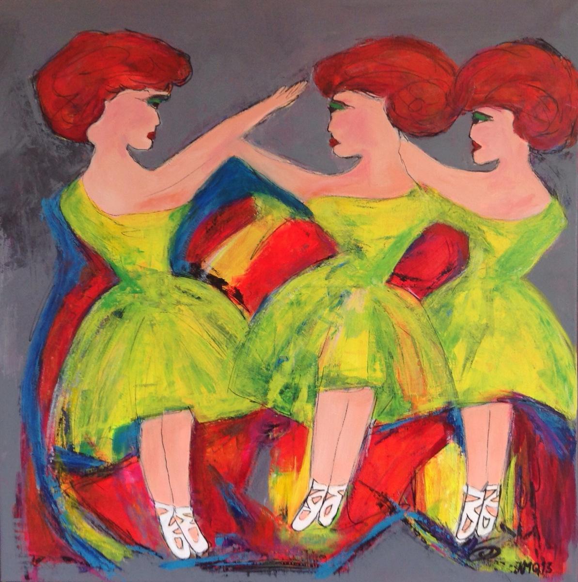 Balletpiger 80 x80 cm