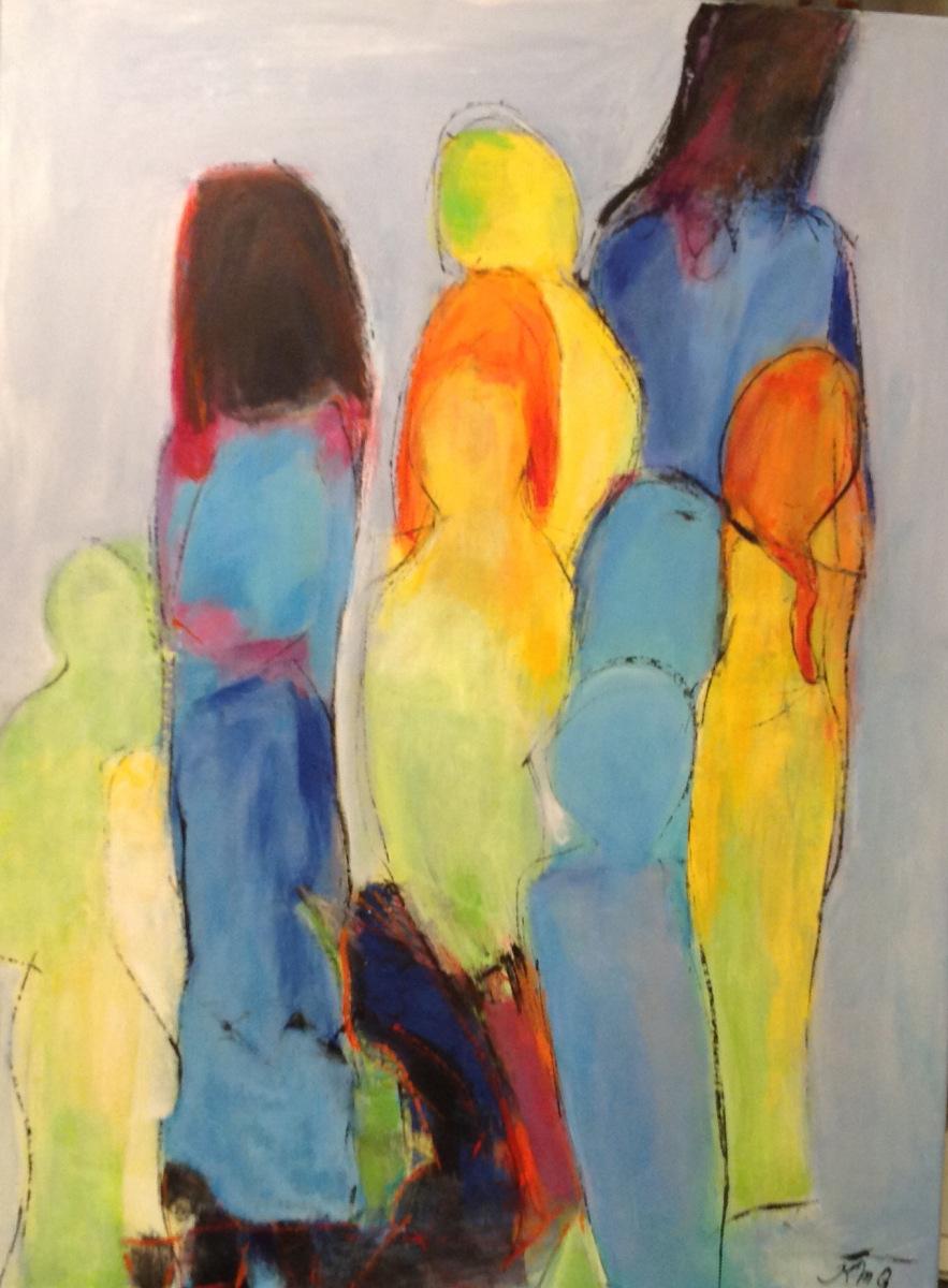 Kvinder solgt fra Marina 80 x 60 cm