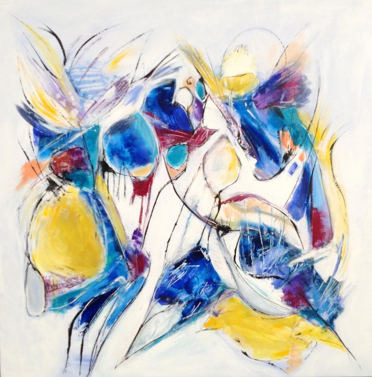 Abstrakt 80 x 80 cm  gave til I