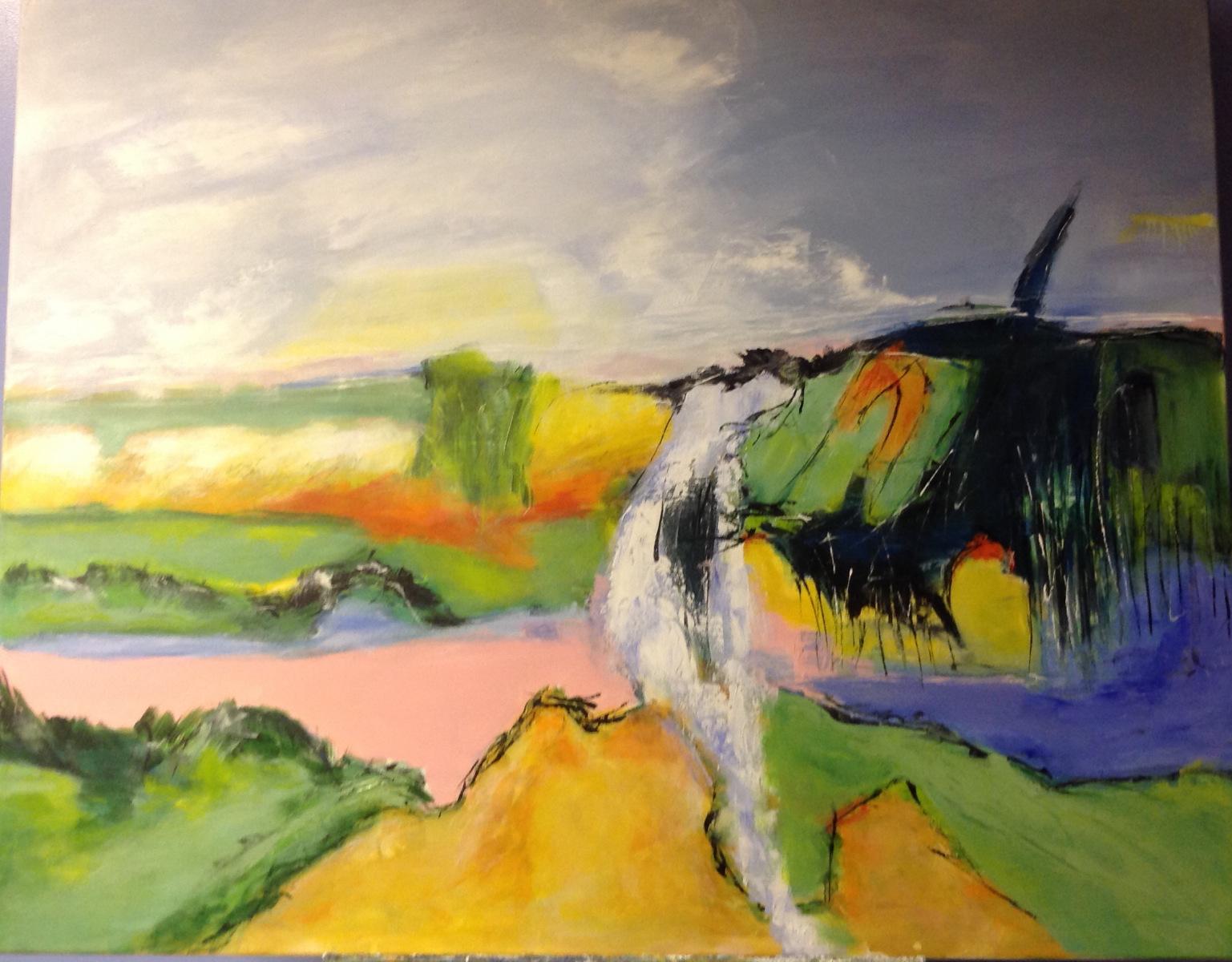 100 x 80 cm  Naturskildring