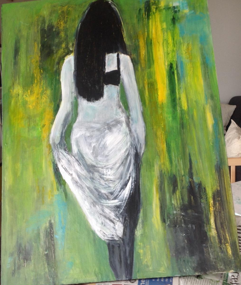 Kvinden i det grønneMåler 80 x 60 cm