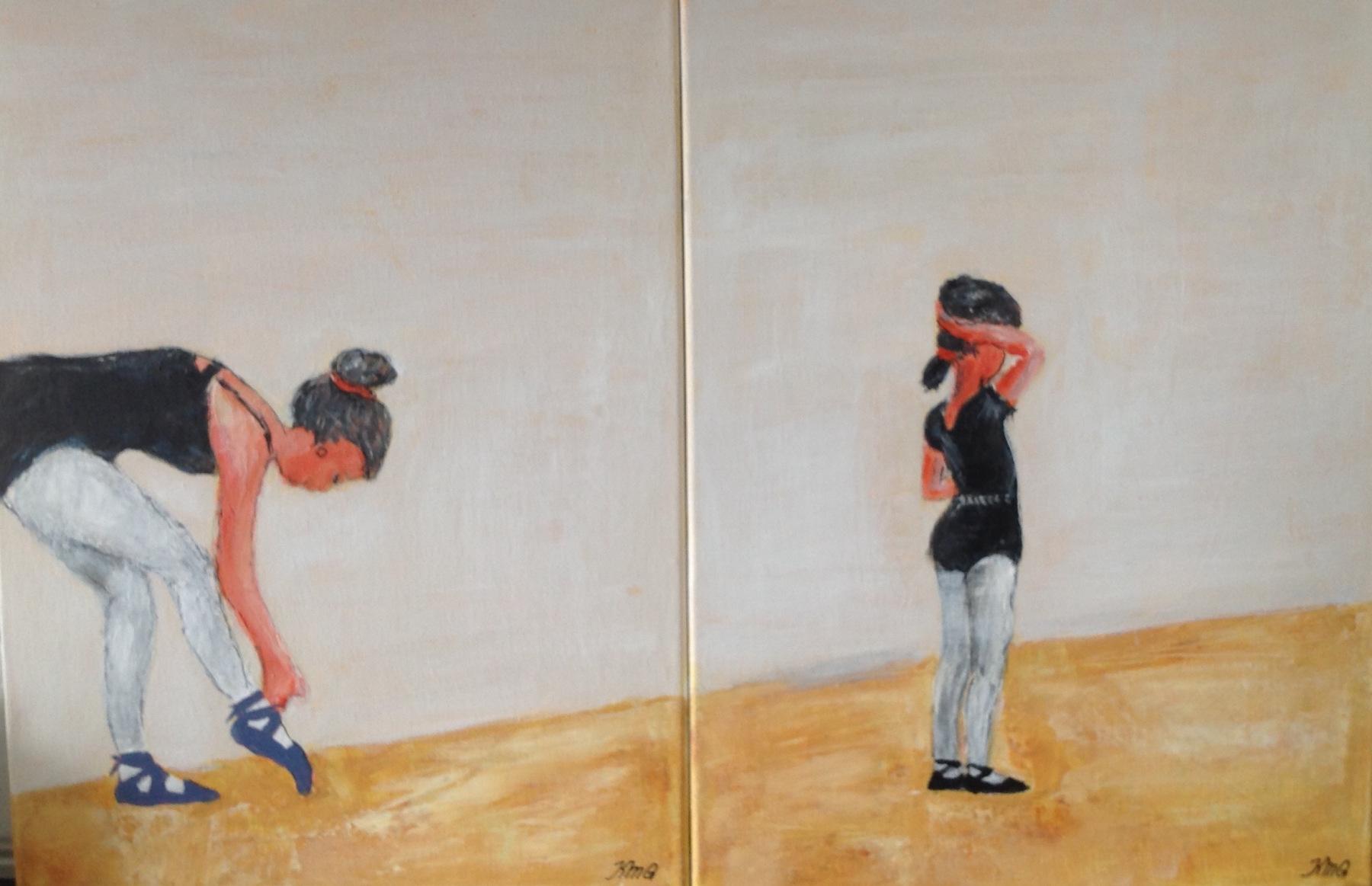 To stk måler 40 x 30 cm Balletpige