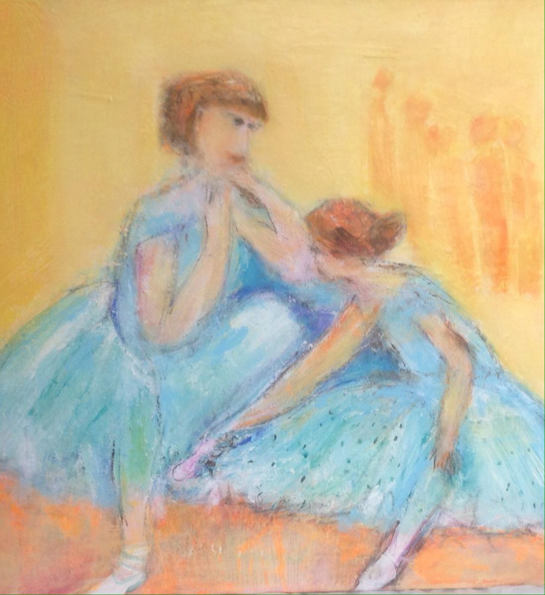 Ballet piger er blevet malet over