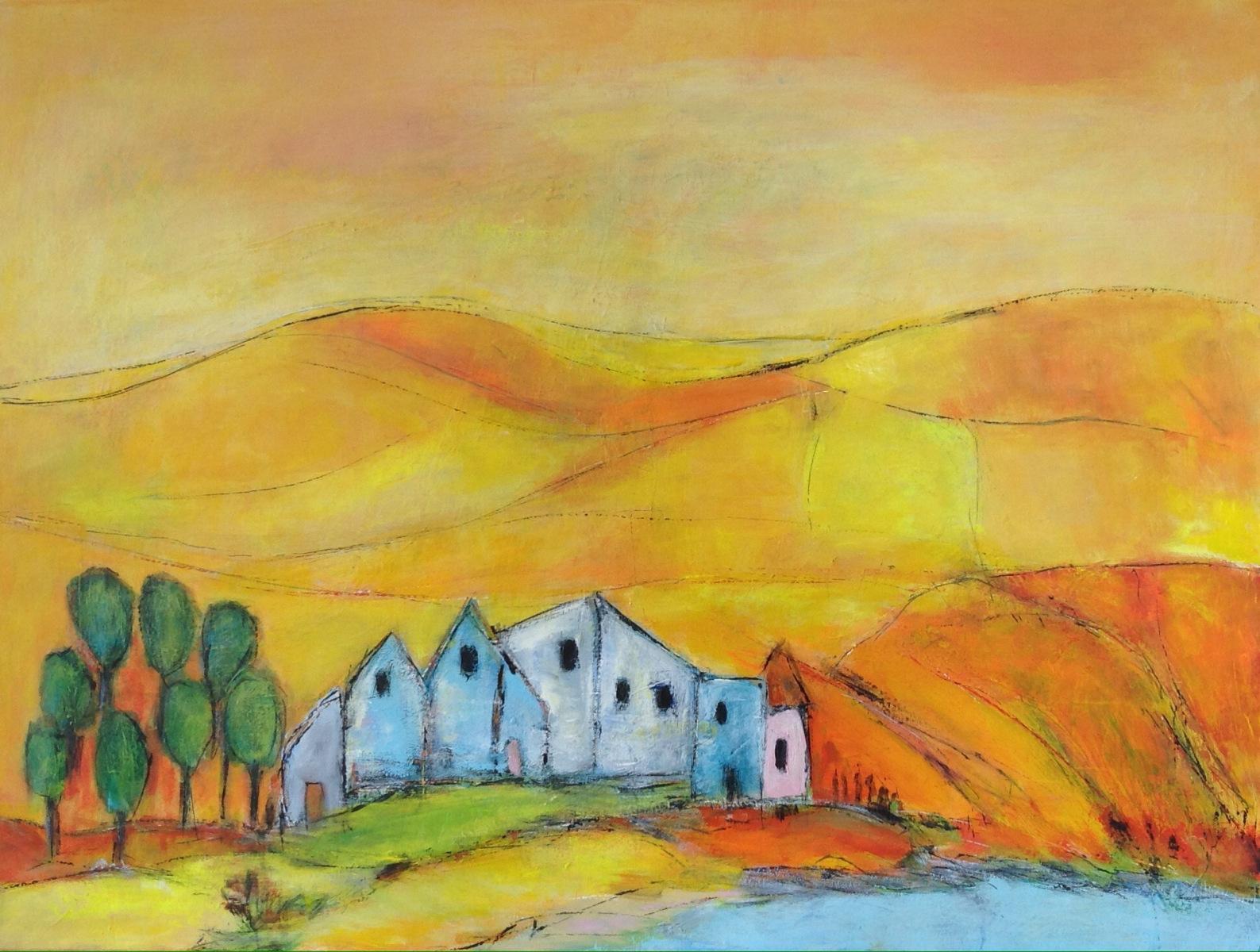 """"""" Toscana """"  80 x 60 cm gave til L Ø o g S"""
