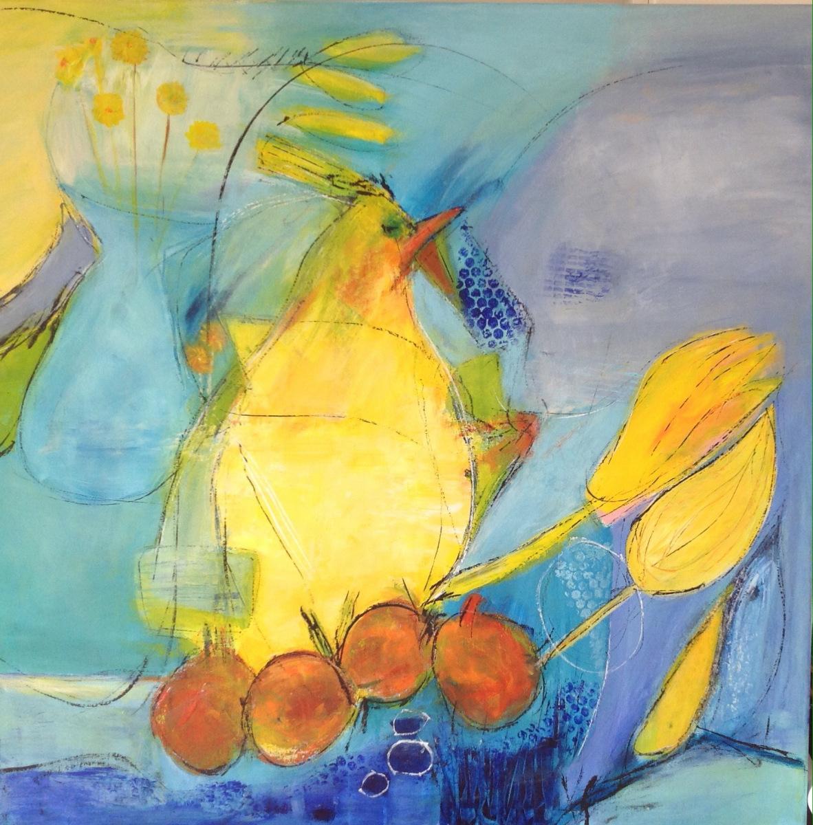 """""""Kyllingen """" 80  x 80 cm"""