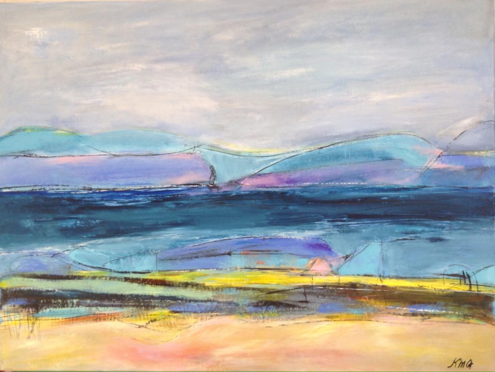 """"""" Det uendelige landskab """" 80 x 60 cm"""