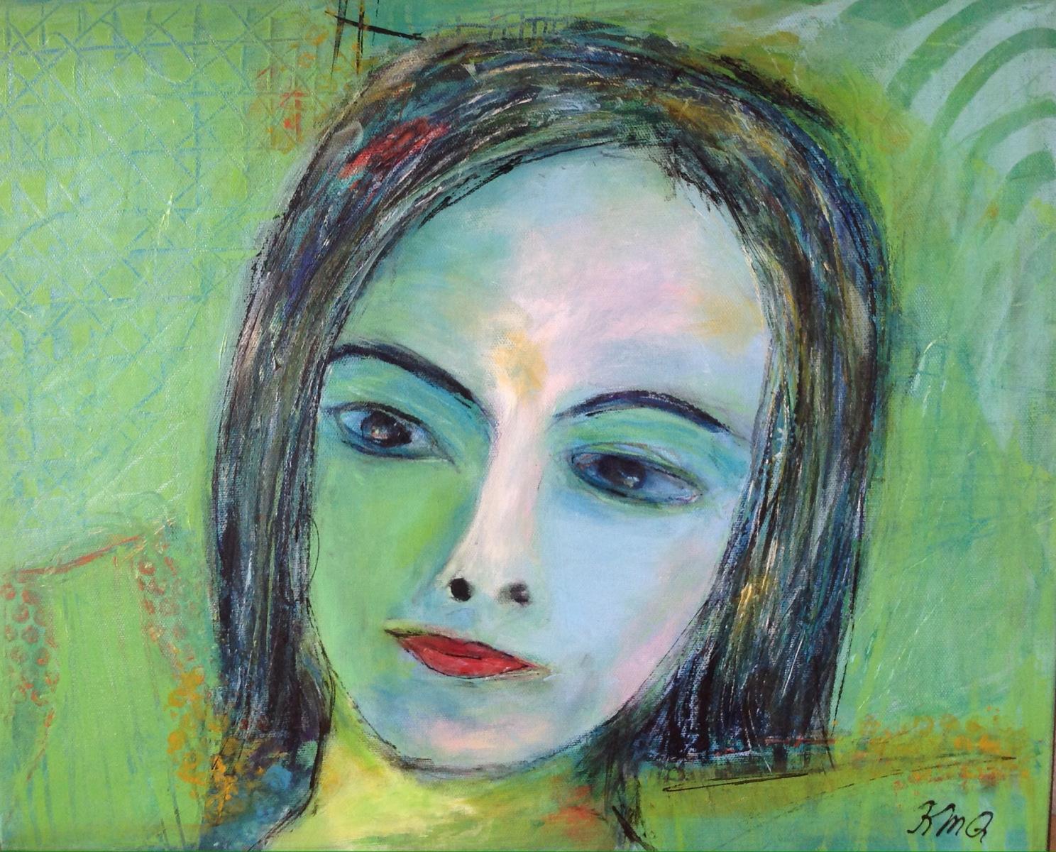 Leg med portræt maling i Grenå