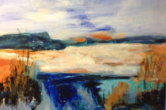 """"""" Det uendelige landskab """" 80 x 60 cm er på udstilling på Hotel Marina 2020"""