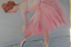 Pink balletdanser 60 x 50 cm