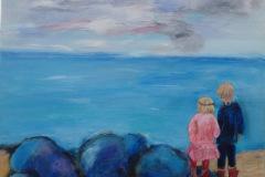 Børnebørn ved havet solgt til K