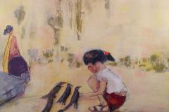 Pigen med fuglene Rosa til barnedåbsgave